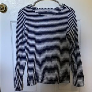 J Crew striped long sleeve tee (navy and white)
